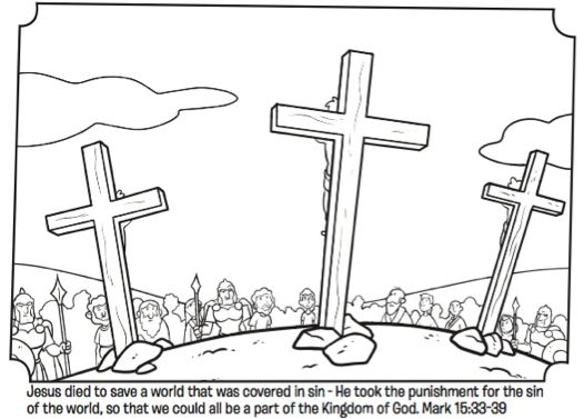 jesus on the cross coloring page from whats in the bible