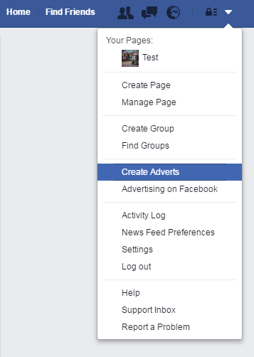 Setting up a facebook ad