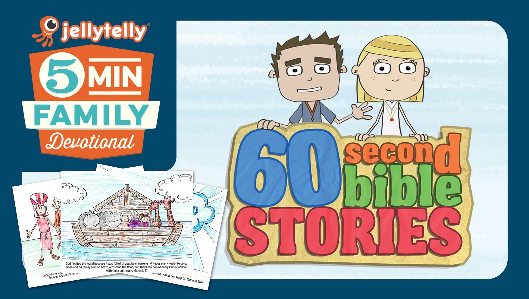 60 Second Bible Stories - A New 5 Minute Family Devotional Plan