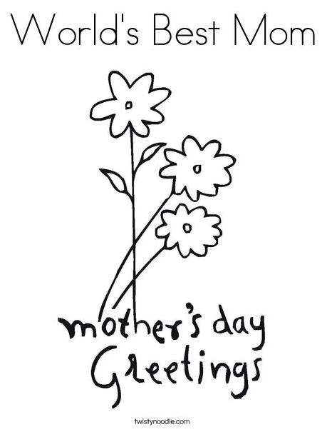 TwistyNoodle Offers Up A Range Of Mothers Day Coloring Pages Featuring Teddy Bears And Gifts