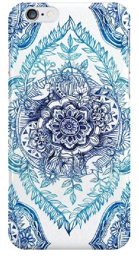 Artistic flower phone case