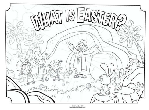 15 Easter Coloring Pages [Religious] Free Printables for Kids | 382x515