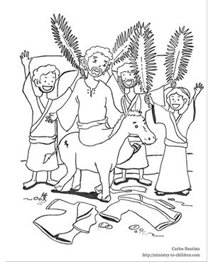 Palm Sunday Coloring Page From Ministry To Children