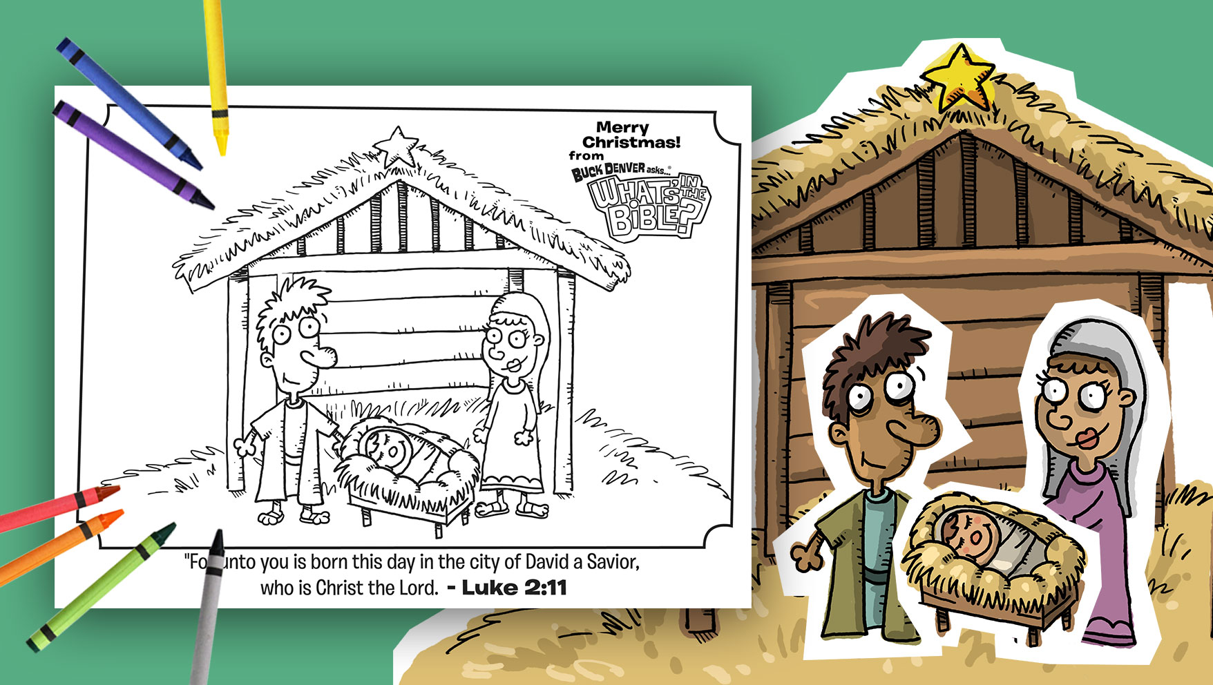 Luke 2:11 Christmas Coloring Page | Jellytelly Parents