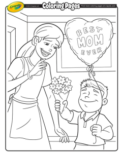 Best Mothers Day Coloring Pages