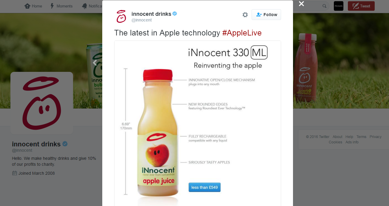 Innocent drinks social media success