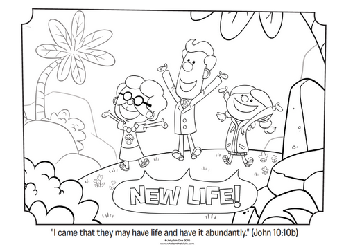 Download This New Coloring Page Celebrating Life From Phil Vischers Book What Is Easter