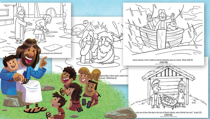 Looking For Bible Coloring Pages Of Jesus To Help Your Kids Learn About And His Teachings Download This Free 5 Page Book From
