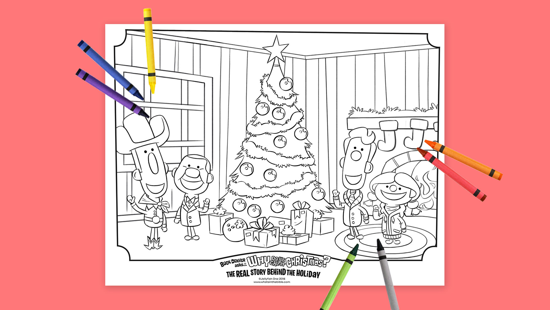 Why do we call it christmas coloring pages - In The New Book Why Do We Call It Christmas The Real Story Behind The Holiday Buck Denver And Friends Learn The History Of Christmas And How All Our