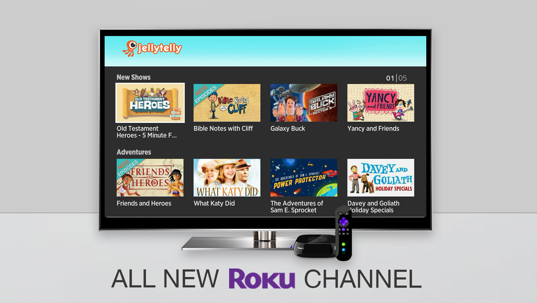 Introducing the All New JellyTelly Roku Channel!