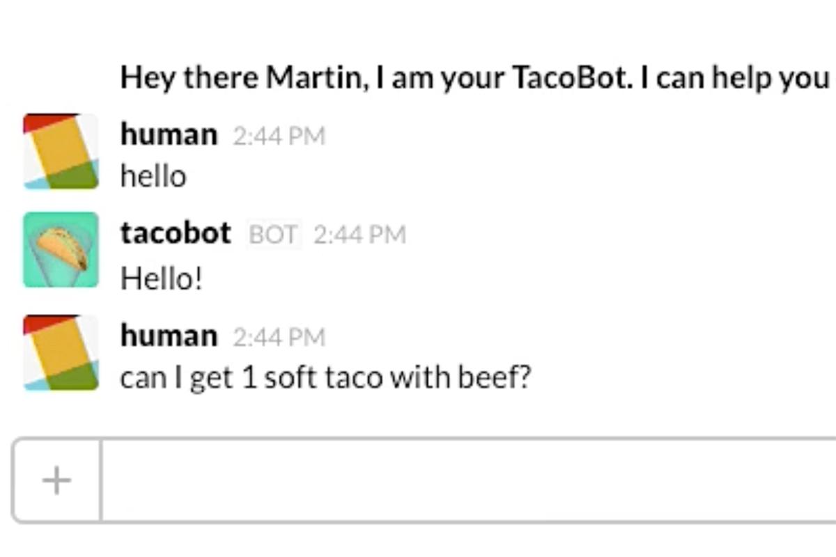 Taco bot on slack