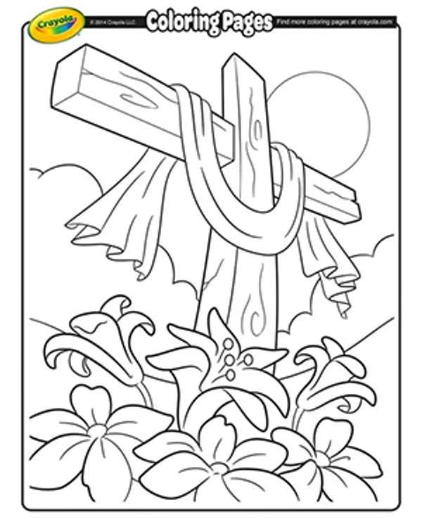 easter cross coloring pages Best Easter Coloring Pages | Jellytelly Parents easter cross coloring pages