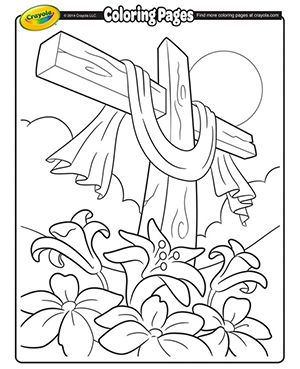Easter Cross Coloring Page From Crayola