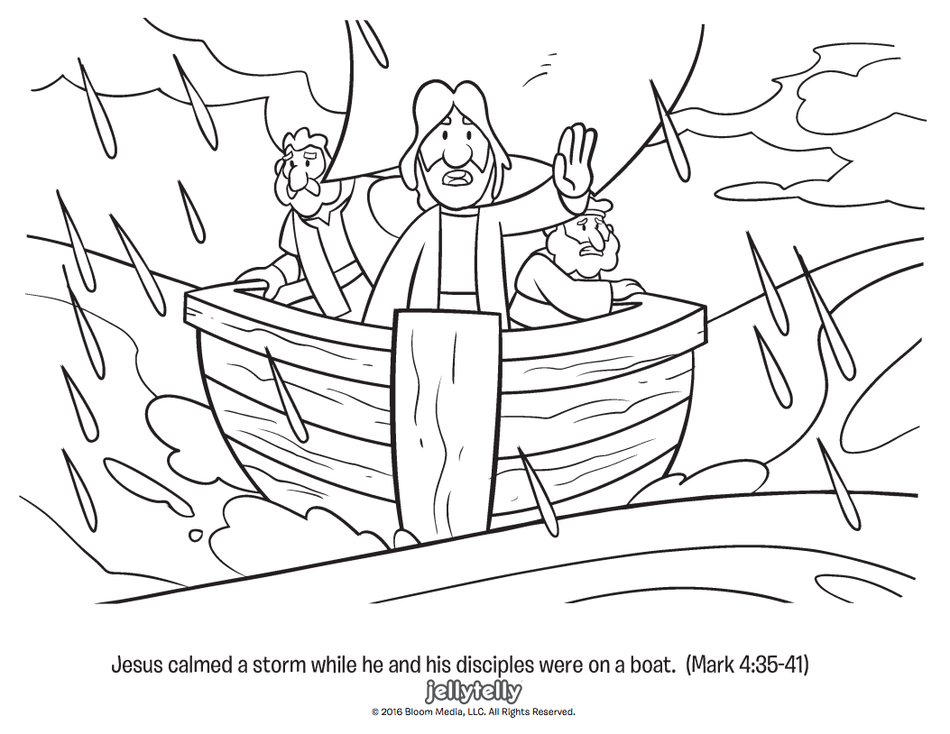 Coloring Pages Of Jesus Calming The Storm - Worksheet & Coloring Pages