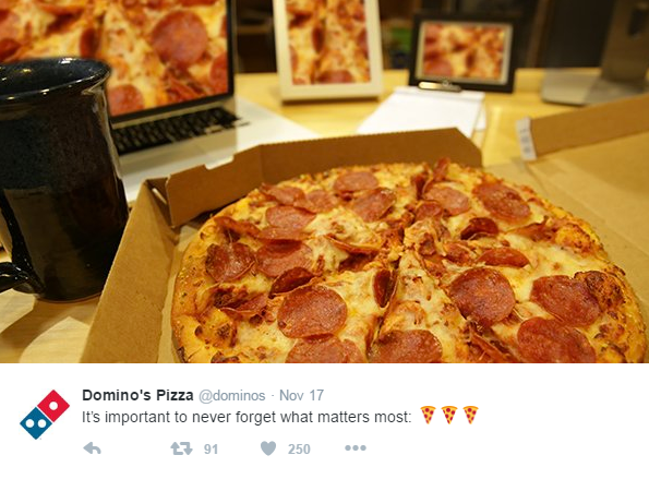 Domino's pizza tweets
