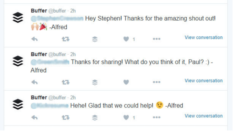 Buffer and their customers