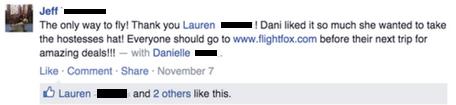 Flightfox testimonial