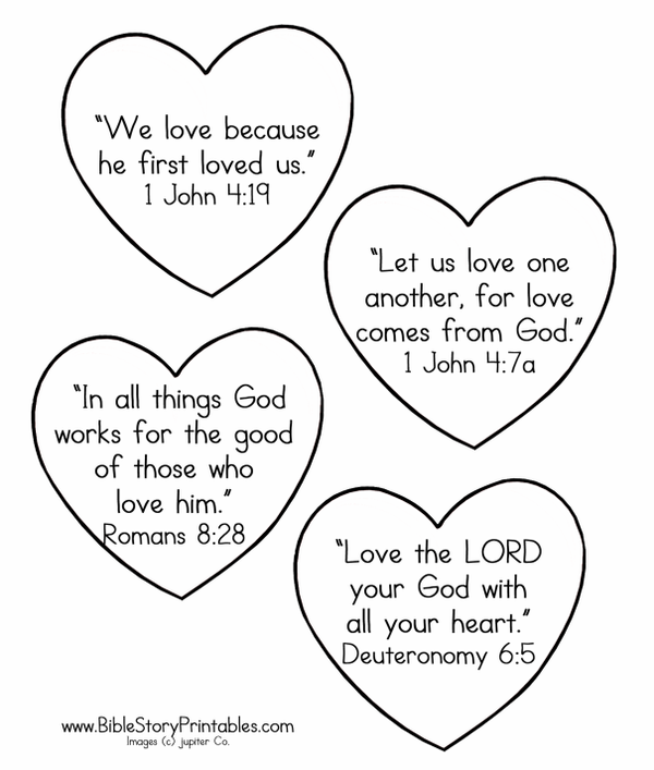 Color Favorite Bible Verses About Love In This Coloring Page From Story Printables
