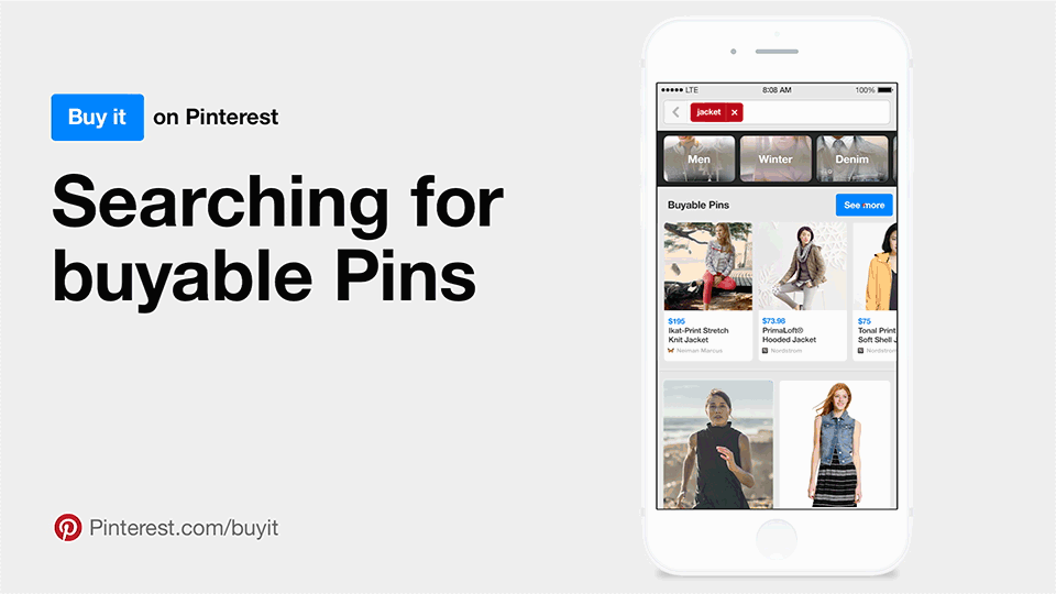 Pinterest buyable pins