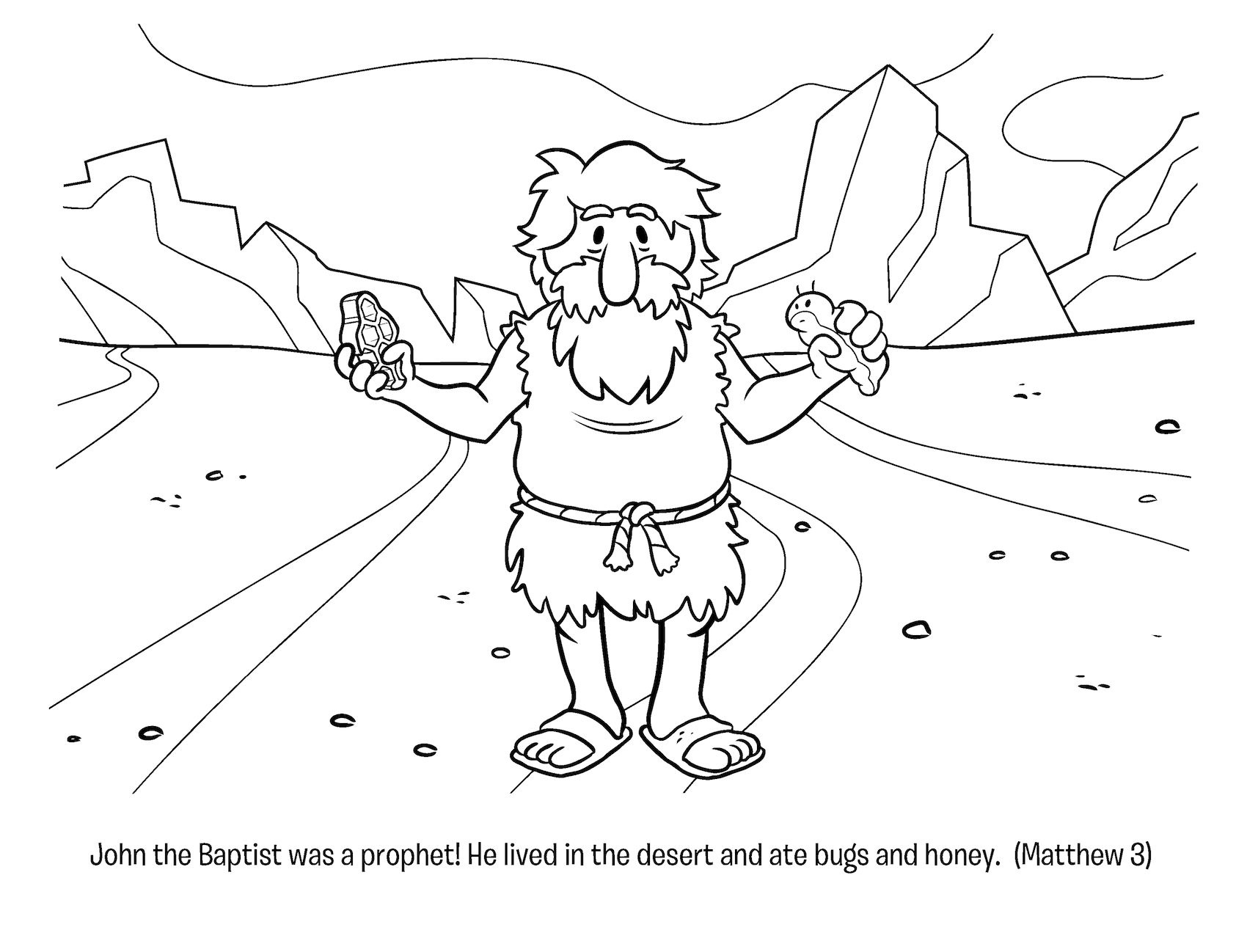 Free coloring pages john the baptist - Todayu0027s Free Activity Is A John The Baptist Coloring Page Download The Coloring Page Here
