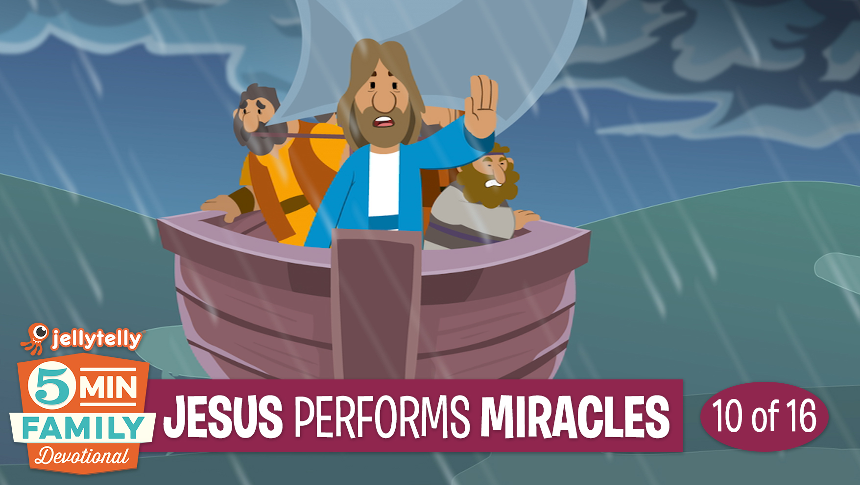 Jesus Performs Miracles: Jesus 5 Minute Family Devotional