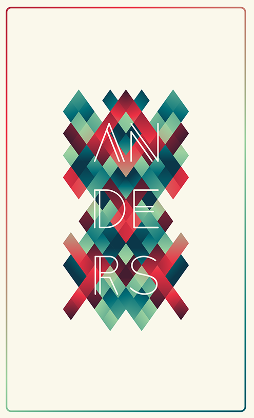 Typography artist Tom anders watkins
