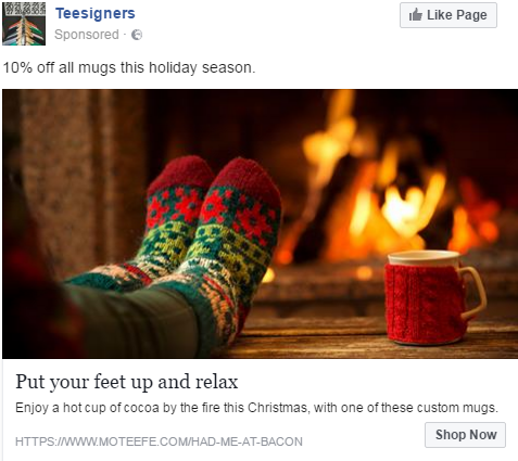 Christmas Facebook ad example