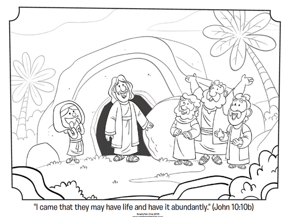 Download This Coloring Page Celebrating That Jesus Is Risen