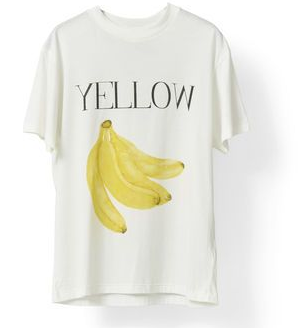 yellow banana shirt