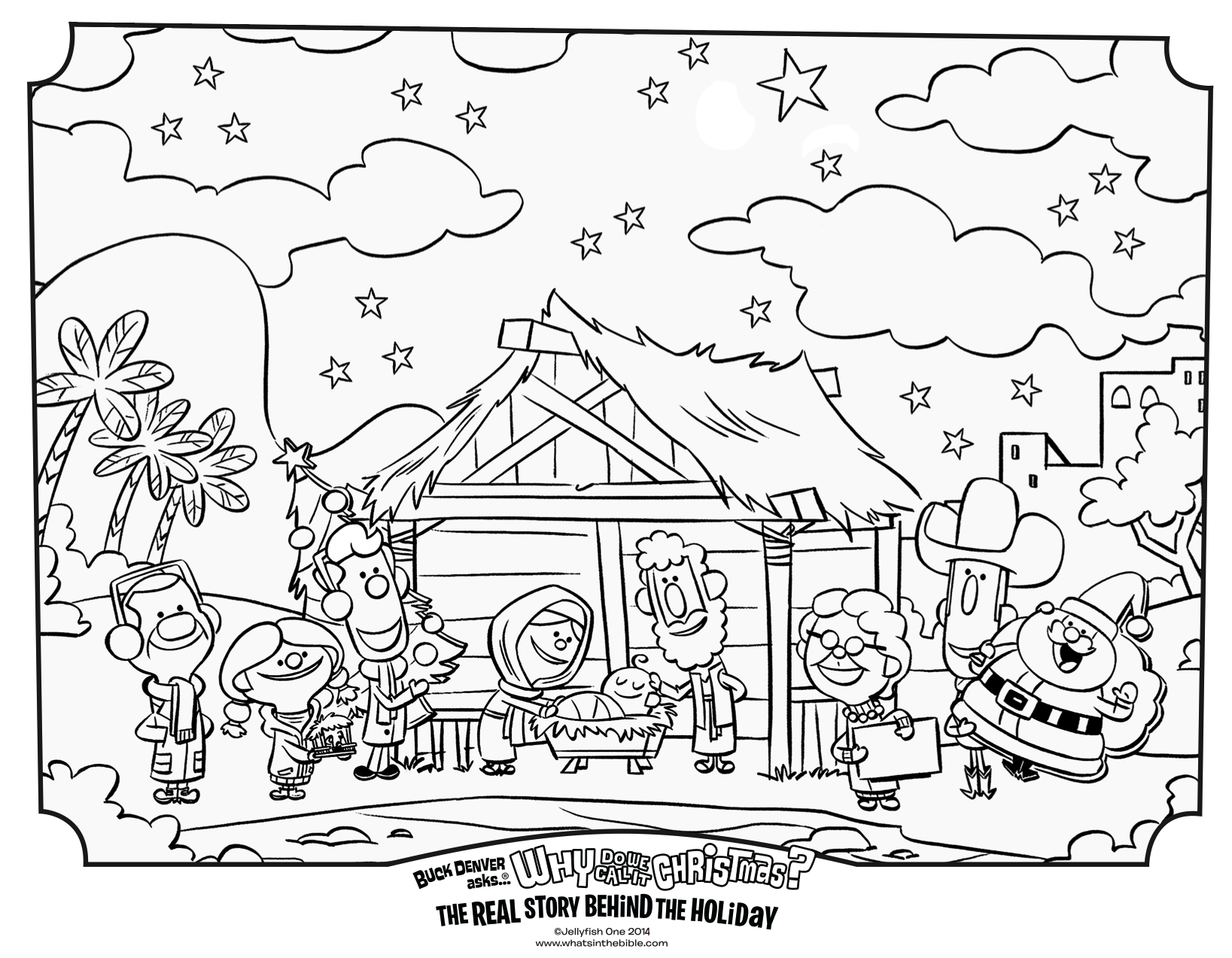 Why Do We Call It Christmas Book Nativity Coloring Page